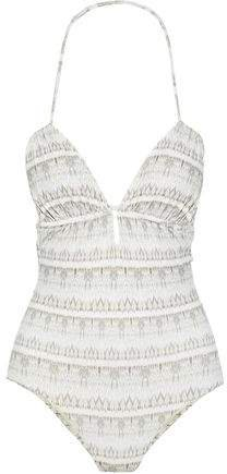 Ruched Printed Swimsuit