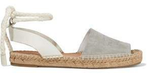 Estelle Embossed Leather And Suede Espadrille Sandals