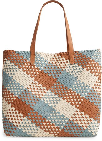 The Transport Tote: Multicolored Woven Leather Edition