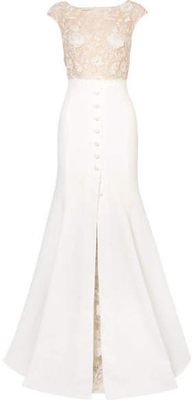 Rime Arodaky - Sewell Lace And Crepe Gown - White