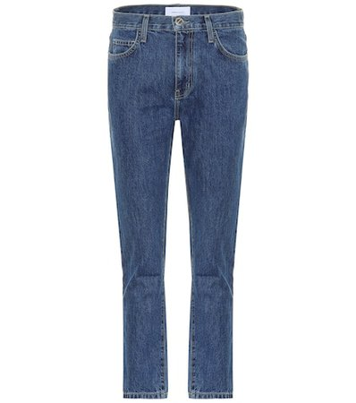 The Vintage Cropped Slim high-rise jeans