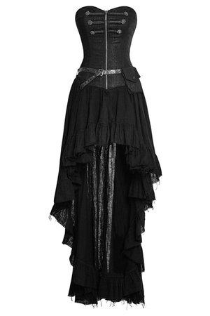 Dryad Black Long Steampunk Dress by Punk Rave   Ladies