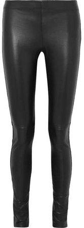 Leather Leggings - Black