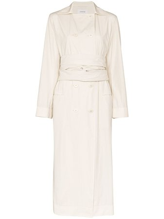 Lemaire, Double-Breasted Tie Waist Trench Coat