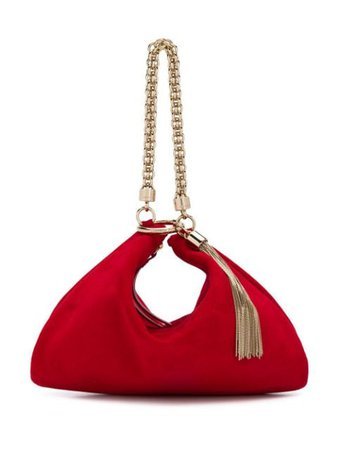 Red Jimmy Choo Callie Clutch | Farfetch.com