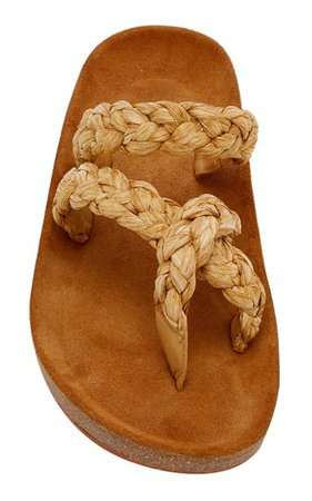 Still Life Raffia Sandals By Johanna Ortiz
