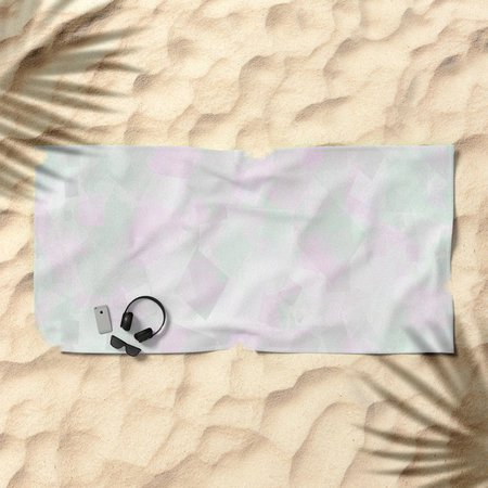 Clear Amour Snuff Mint Beach Towel by deluxephotos | Society6