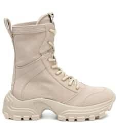 Miu Miu - Canvas ankle boots | Mytheresa