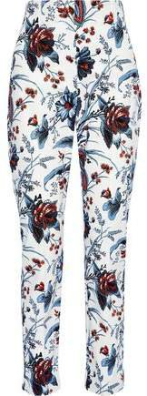 Dakota Printed Stretch-cotton Twill Slim-leg Pants