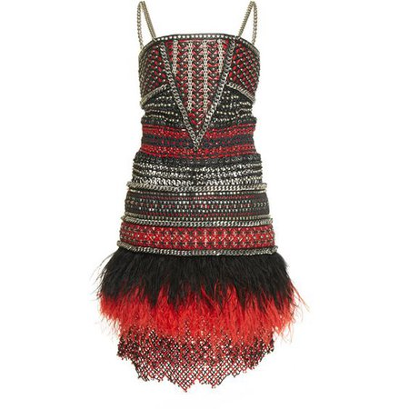 Balmain Braided Chain Short Dress