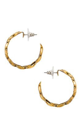 Jennifer Behr Tara Hoop in Gold | REVOLVE