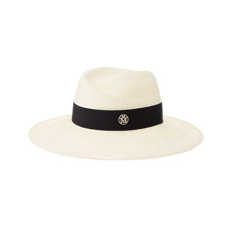 Maison Michel Virginie Straw Fedora Hat