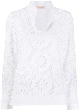 Floral Lace Cotton Top