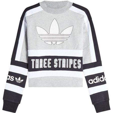 Adidas Three Stripes Sweatshirt Crop Top