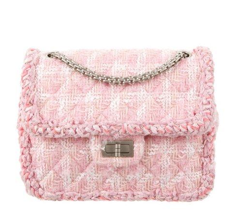 Chanel Pink Tweed Bag