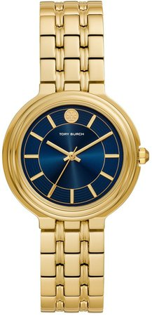 Bailey Watch, Gold-Tone Stainless Steel/Gold Tone/Navy, 34 MM