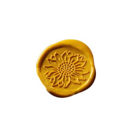 Yellow flower wax seal