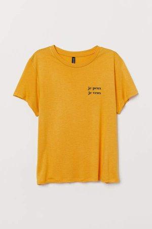 Viscose T-shirt - Yellow