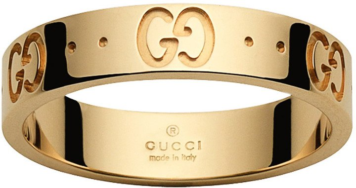 Icon Double G Gold Ring