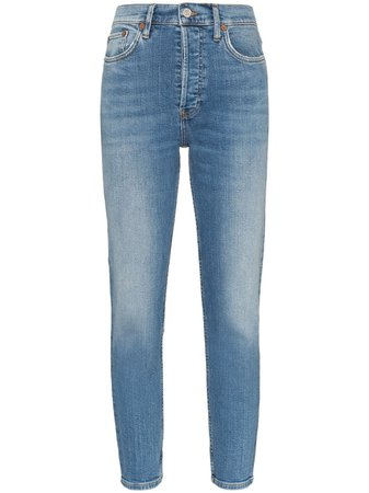 Re/done High-Rise Cropped Skinny Jeans | Farfetch.com