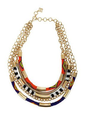 Just bought this...obsessed! Tribal Seed-Bead Statement Necklace