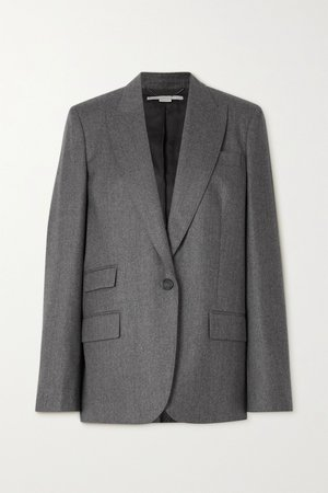 Gray Bell wool blazer | Stella McCartney | NET-A-PORTER