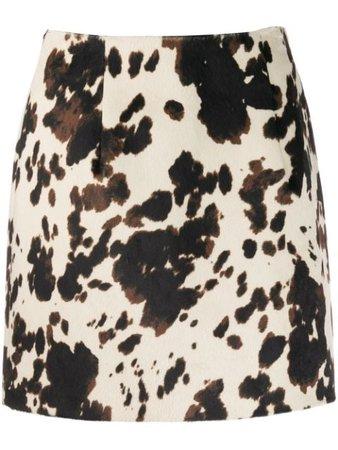 Alexa Chung Cow Print Skirt | Farfetch.com