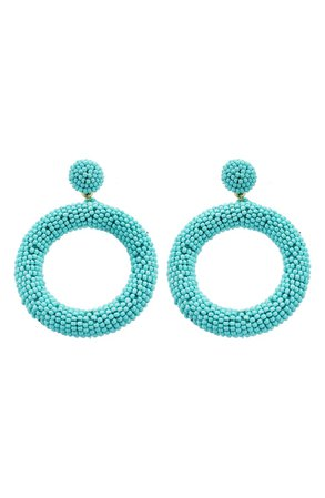 Panacea Seed Bead Hoop Earrings | Nordstrom