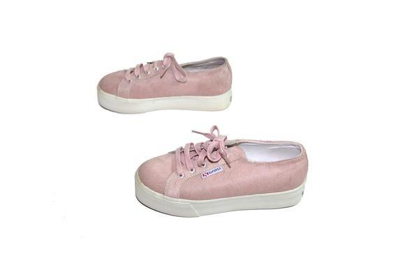 Sweet Lolita Kawaii Vintage Pink Pony Hair Platform Sneakers | Etsy