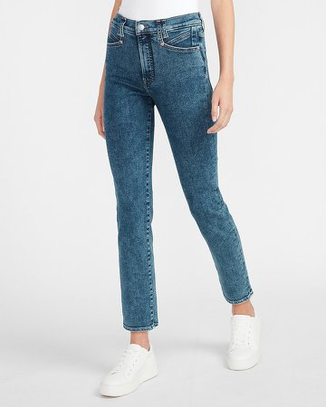 High Waisted Seamed Slim Jeans