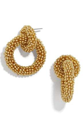 BaubleBar Mini Emma Beaded Hoop Earrings | Nordstrom
