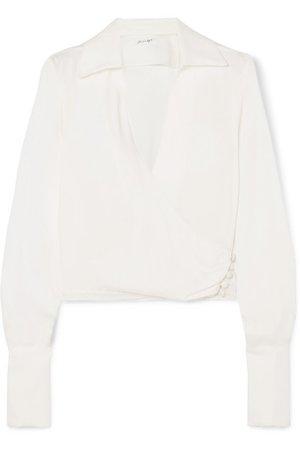 The Line By K | Dayna satin wrap blouse | NET-A-PORTER.COM