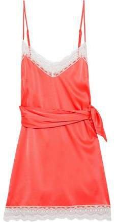 Charlotte Silk-charmeuse Mini Dress