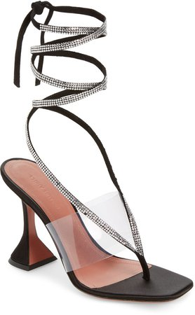 Zula Crystal Ankle Wrap Sandal