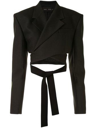 Proenza Schouler Slub Suiting Wrap Blazer - Farfetch