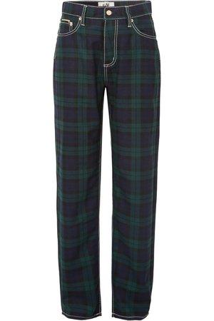 Eytys   Benz Cali plaid flannel wide-leg pants   NET-A-PORTER.COM