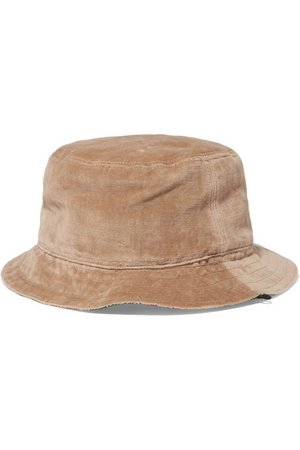 Gucci   Reversible velvet and printed silk-twill bucket hat   NET-A-PORTER.COM