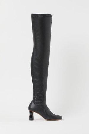 Thigh-high Boots - Black