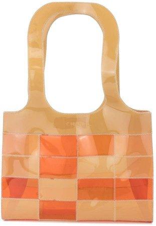 Pre-Owned patchwork vinyl shoulder bag