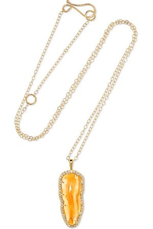 Melissa Joy Manning | 14-karat gold, opal and diamond necklace | NET-A-PORTER.COM