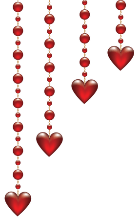 Valentines Day Hanging Hearts Transparent PNG Clip Art Image | Valentine Clipart Heart - Clipart.Email
