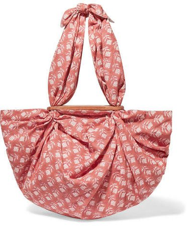 Emily Levine - Tokyo Knotted Floral-print Cotton-voile Tote - Pink
