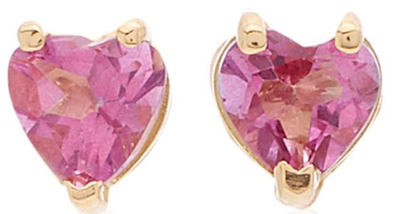 KATEY WALKER 18kt Pink Tiny Heart Earrings