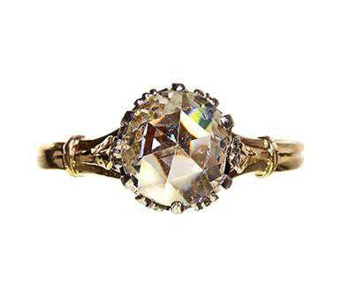 Late Victorian Ring with Early Rose Cut Diamond | Bell and Bird