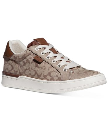 COACH Women's Lowline Sneakers & Reviews - Athletic Shoes & Sneakers - Shoes - Macy's brown