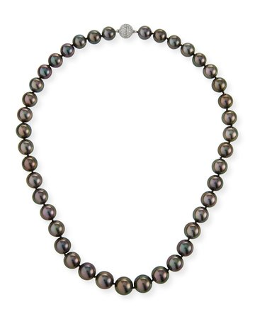 Assael Tahitian Natural Color Cultured Pearl Necklace