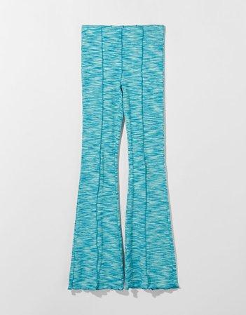 Space-dye flared pants - Pants - Woman | Bershka