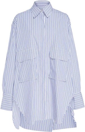 Oversized Blue Striped Shirt
