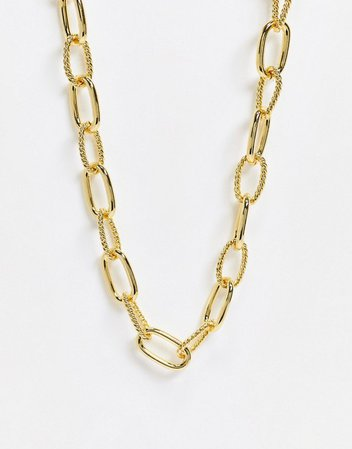 & Other Stories chunky link necklace in gold | ASOS