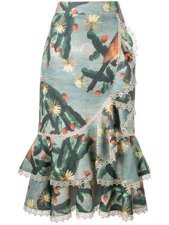 Patbo Peplum Midi Skirt - Farfetch
